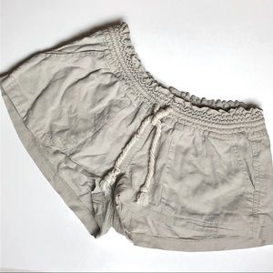 Roxy Khaki Drawstring Shorts